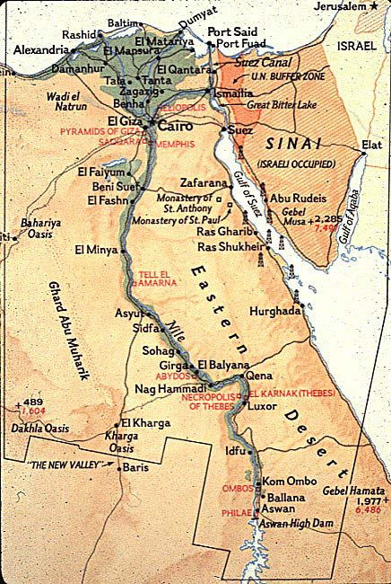 Ancient Egypt The Mythology Map Of Egypt - Map of egypt picture