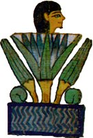 Ancient egypt the mythology lotus the deceased as the sun god rising out of the primordial lotus mightylinksfo