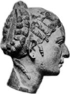 A supposed bust of the queen made while she was in Rome