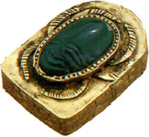 A 'heart scarab' amulet
