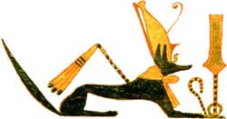 Anubis with Sekhem scepter